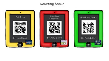 HUGE Pack of QR Code Math Reading Center Books - 115+ Books w I Can Sentences