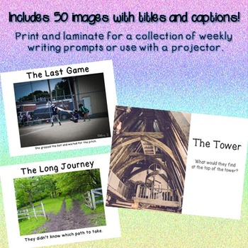 Photo Writing Prompts Bundle for the Whole Year