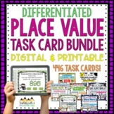 Place Value Task Card Bundle | Distance Learning | Google Apps