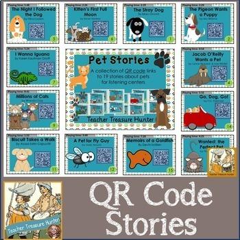 HUGE QR Code Bundle #1 - 296 stories! *K-2 Listening Centers