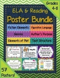 Bulletin Boards Reading & ELA Poster Bundle: 70+ Classroom Posters