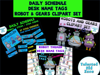 HUGE Robot Themed Classroom Decor Bundle
