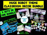 HUGE Robot Themed Classroom Decor Bundle