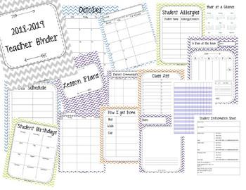 HUGE SALE!! 2018-2019 Teacher Binder. Teacher Planner. Lesson Plans. Calendar.