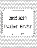 HUGE SALE!! 2018-2019 Teacher Binder. Teacher Planner. Les