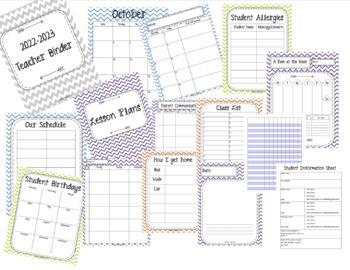 HUGE SALE!! 2019-2020 Teacher Binder. Teacher Planner. Lesson Plans. Calendar.