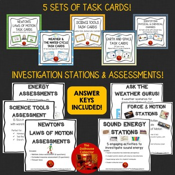 HUGE SCIENCE BUNDLE! Word Walls*Reference Sheets*Task Cards*Word Searches*
