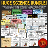 HUGE SCIENCE BUNDLE! *Word Walls*Task Cards*Stations*Word Searches*Assessments*