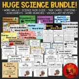 HUGE SCIENCE BUNDLE! Word Walls*Task Cards*Stations*Word S