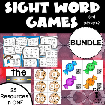 HUGE Sight Word Games BUNDLE