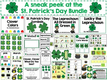 HUGE St. Patrick's Day Bundle Math & Literacy Centers Special Education, Autism
