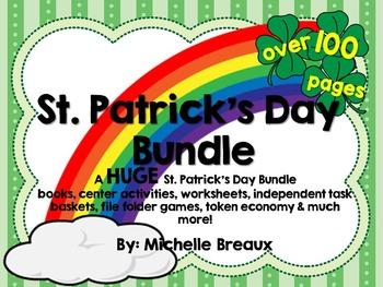 HUGE St. Patrick's Day Bundle Math & Literacy Centers Spec