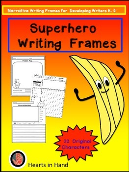 Superhero Writing Frames K-2