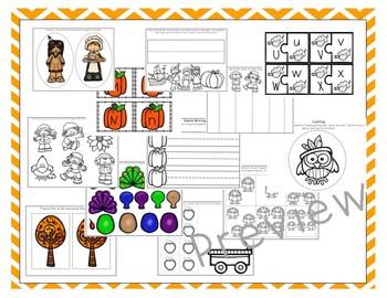 HUGE Thanksgiving Preschool Bundle