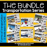HUGE Transportation Bundle- 8 Adapted Books (2 levels) Vehicle sort & MORE