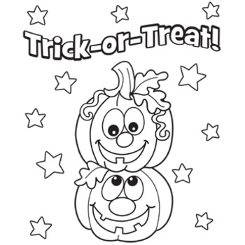 HUGE Trick-or-Treat poster that your students can color!!!!