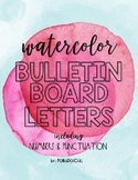 HUGE Water Color Letters for Bulletin Boards