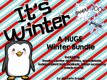 HUGE Winter Activity Bundle Adapted for Special Education and Autism