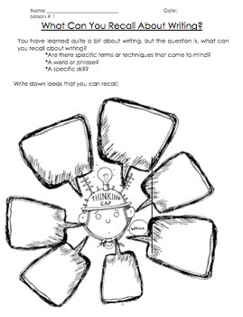 """Writing Unit-""""Building"""" Great Writers-Lessons Plans, Activities, Assessment"""
