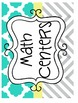 HUGE Yellow, Gray, and Teal Chevron and Quatrefoil Classro