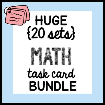 HUGE {all the MATH TASK CARDS} Math Doodles BUNDLE - ALL YEAR