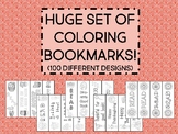 HUGE set of Coloring Bookmarks Classroom / School Library