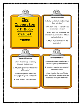 THE INVENTION OF HUGO CABRET- THEME Discussion Cards