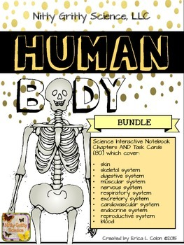 HUMAN BODY BUNDLE - Science Interactive Notebook and Task Cards