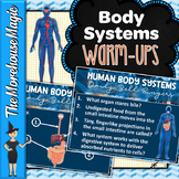 HUMAN BODY SYSTEMS BELL RINGERS, WARM UPS, DAILY QUIZZES -