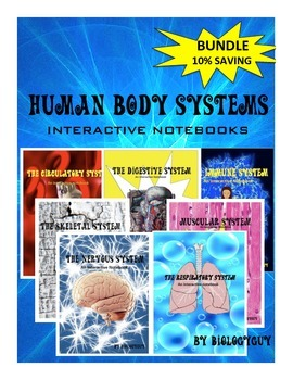 HUMAN BODY SYSTEMS INTERACTIVE NOTEBOOKS, BUNDLE 10% SAVING