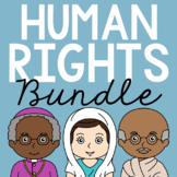 HUMAN RIGHTS LEADERS Biography Coloring Pages & Research Projects BUNDLE