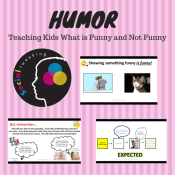 HUMOR BUNDLE; Lessons to teach kids about appropriate use of humor