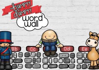 HUMPTY DUMPTY WORD WALL - QLD, NSW, VIC, TAS AND SA FONTS