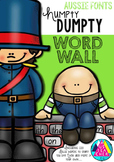 HUMPTY DUMPTY WORD WALL - QLD, NSW, VIC, TAS AND SA FONTS