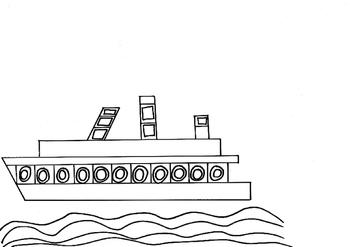 HUNDERTWASSER - projet d'art pour enfants, réaliser un paquebot