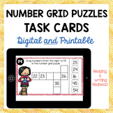 HUNDRED GRID PUZZLES - Digital and Printable Task Cards for use with Google™