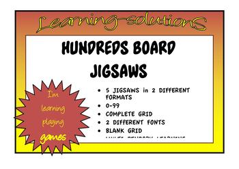 HUNDREDS BOARDS JIGSAWS - 0-99 and 1-100 - Multisensory activity for sequencing