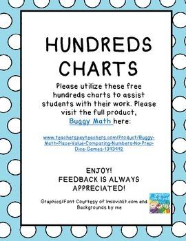 HUNDREDS CHART FREEBIE!