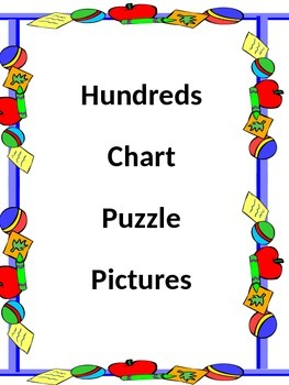 HUNDREDS CHART PUZZLE PICTURES