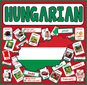 HUNGARIAN LANGUAGE TEACHING RESOURCES display posters flas
