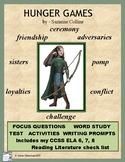 HUNGER GAMES Novel Unit: Chapter Responses, Tests, & Enrichment