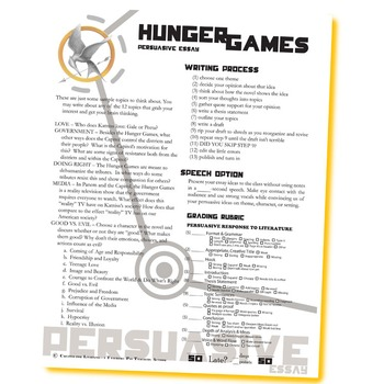 The Hunger Games: Book Analysis Essay - Words
