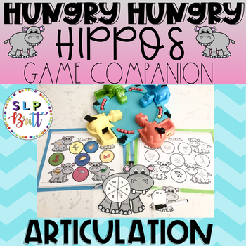 HUNGRY HUNGRY HIPPOS GAME COMPANION, ARTICULATION (SPEECH & LANGUAGE THERAPY)