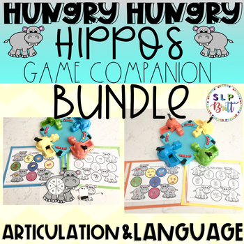 HUNGRY HUNGRY HIPPOS, GAME COMPANION BUNDLE (LANGUAGE & ARTICULATION)