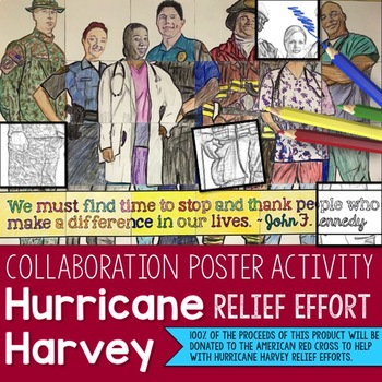 HURRICANE HARVEY RELIEF EFFORT: First Responders Collaborative Poster