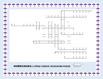 HURRICANES: A STEM/ SCIENCE CROSSWORD PUZZLE