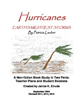 HURRICANES by Patricia Lauber Non-fiction Book Study by Ja