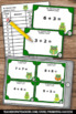 St. Patrick's Day Math Addition Facts up to 20 Task Cards