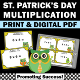 St. Patrick's Day Math Center Activities, Multiplication Facts Practice