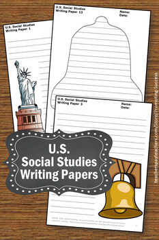 US Presidents Day Writing Papers, Social Studies Center Activities